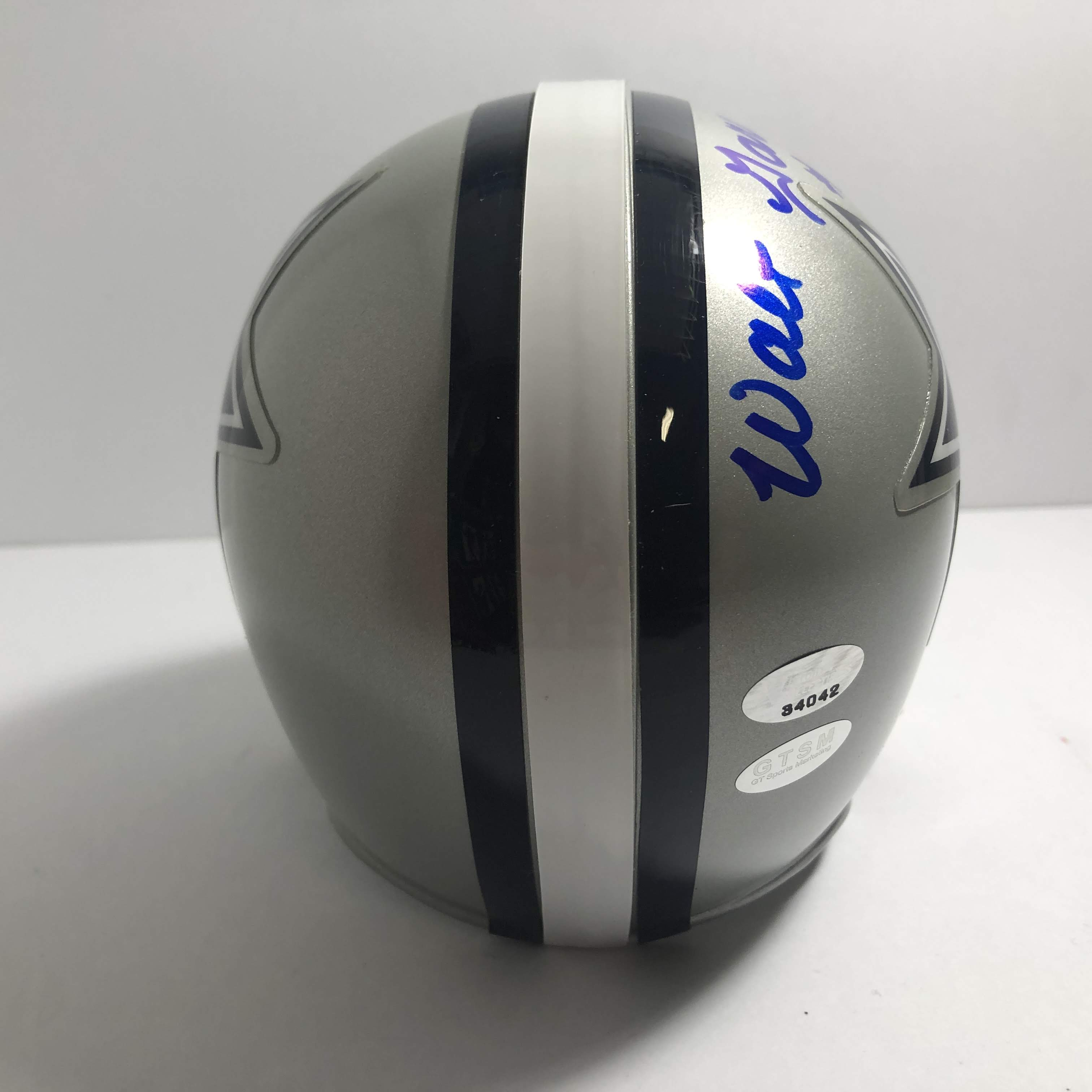 c800d79b249 $89.99. Walt Garrison signed Mini Helmet with a Victory Collectibles ...
